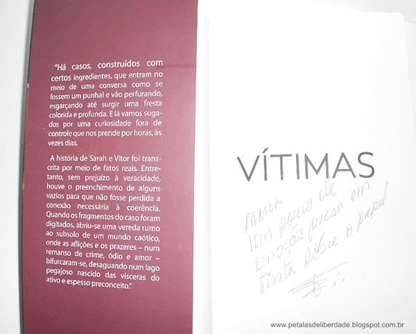 Sobre, livro, Vítimas, Jorge Lemos, resenha