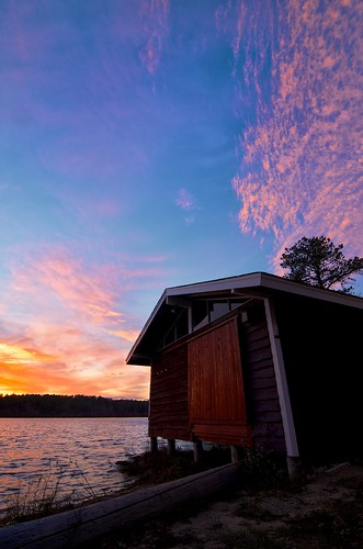 sunset clouds nikon massachusetts plymouth boathouse campcachalot d7000 fivemilepond cachalotscoutreservation tokinaatx116prodxaf1116mmf28
