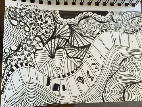 Day 13: Zentangle