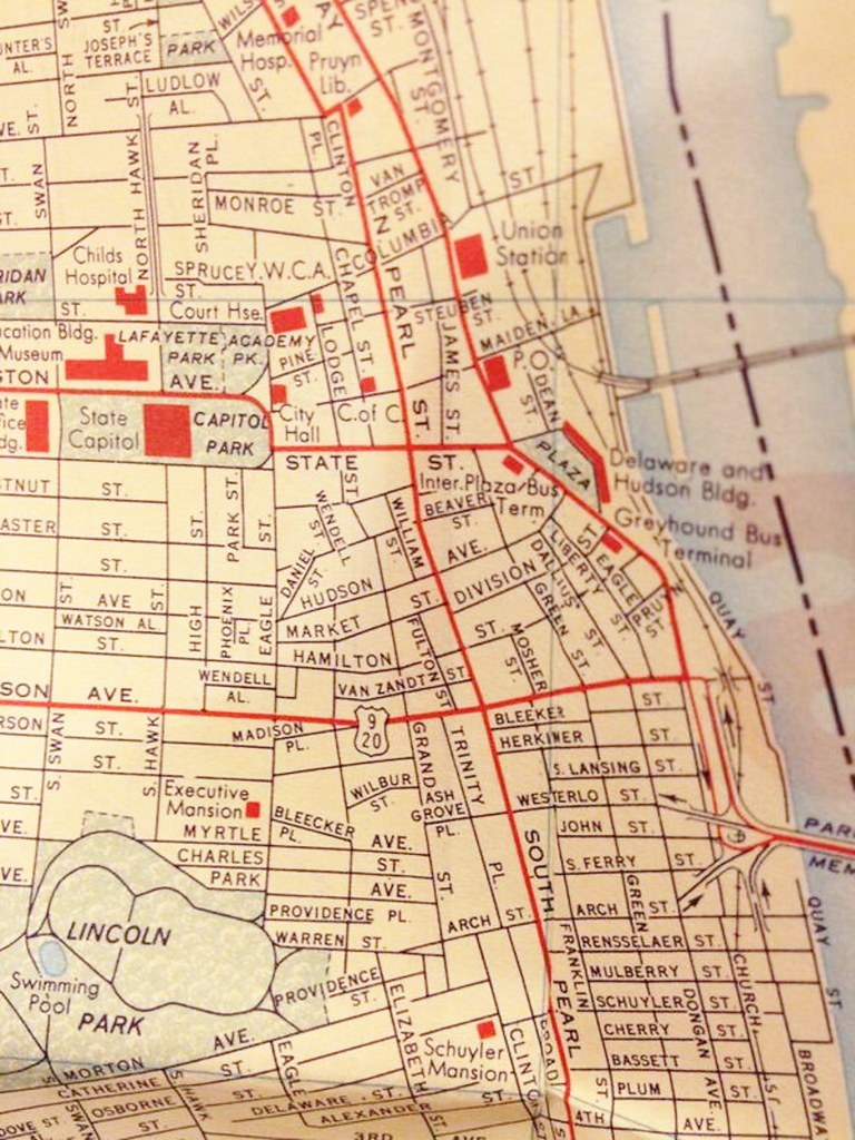 Map Southend And Little Italy 1960 Albany Ny Albanygroup Archive