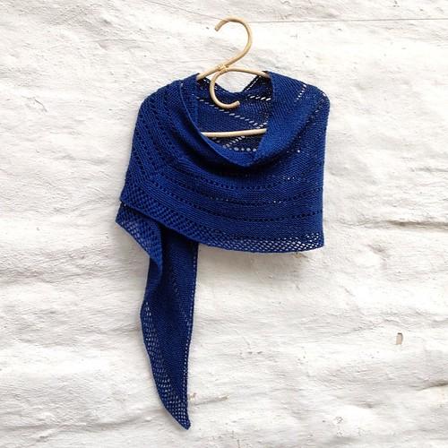 Shibui line break shawl
