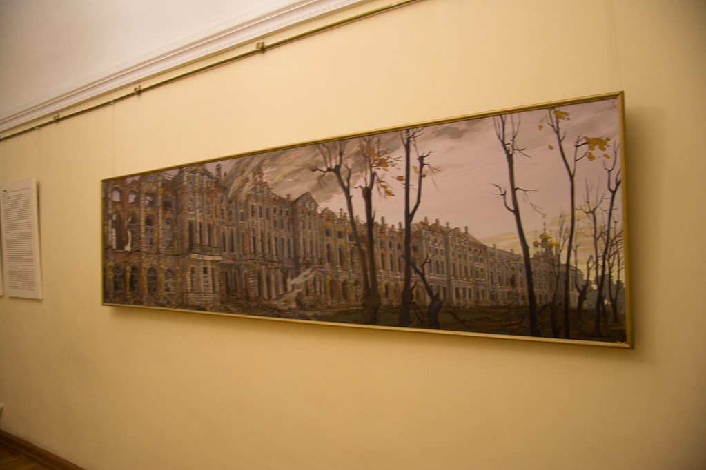 Painting of Catherine Palace after the Siege of Leningrad