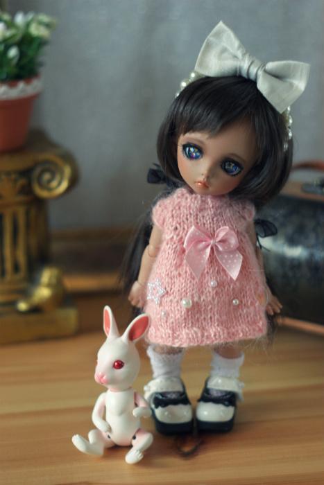 PKF knitted dress - pink