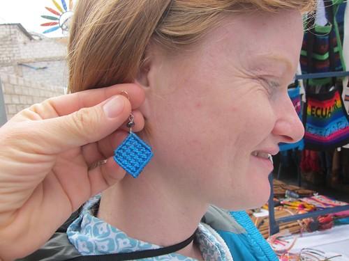Shopping at the Otavalo Handicraft Market