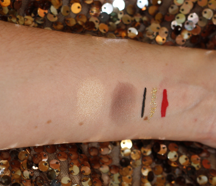 gold eyeliner tutorial swatches catrice hema