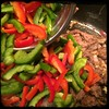 #CucinaDelloZio #Homemade #PepperSteak - red and green #peppers