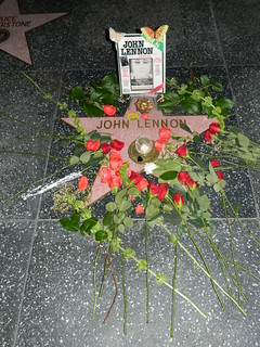 Monday December 8, 2014 a Remembrance Tribute for John Lennon was held at John's star on the Hollywood Walk of Fame in front of the Capitol Records Tower at 1750 Vine Street here in Hollywood, California