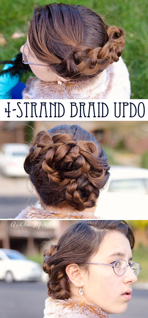this lovely 4 strand braid updo was so easy and looked amazing, thanks to amazing hairstyles by becky porter