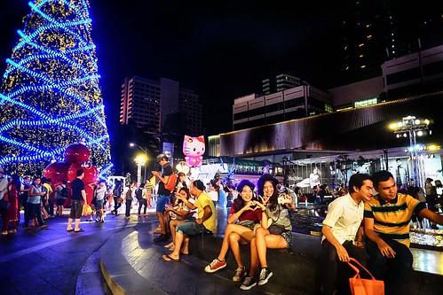 Ambiente navideño en Bangkok