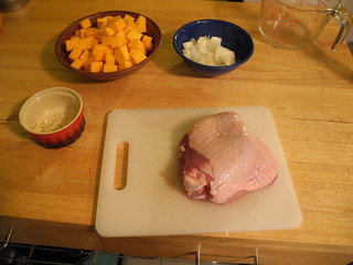 Turkey thigh (and other ingredients)