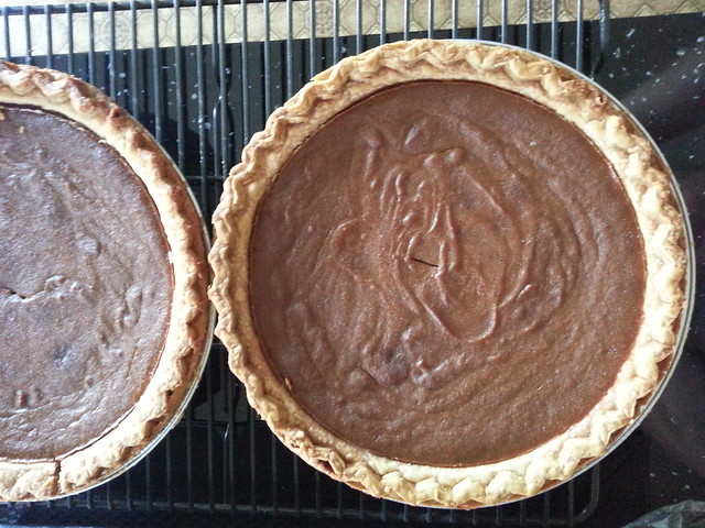 Pumpkin Pies with Molasses