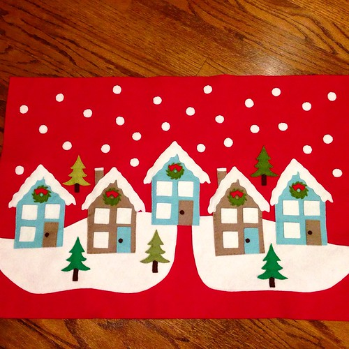 Holiday felt pillow top