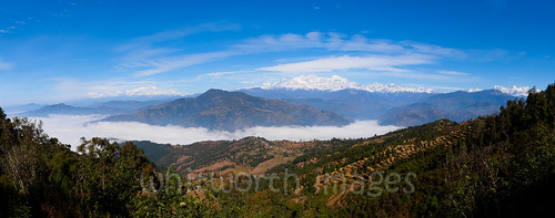 blue trees nepal sky panorama cloud mist snow mountains nature beauty fog landscape outdoors asia village terraces panoramic hills snowcapped valley himalaya range himalayas gorkha indiansubcontinent tanahun manasalu