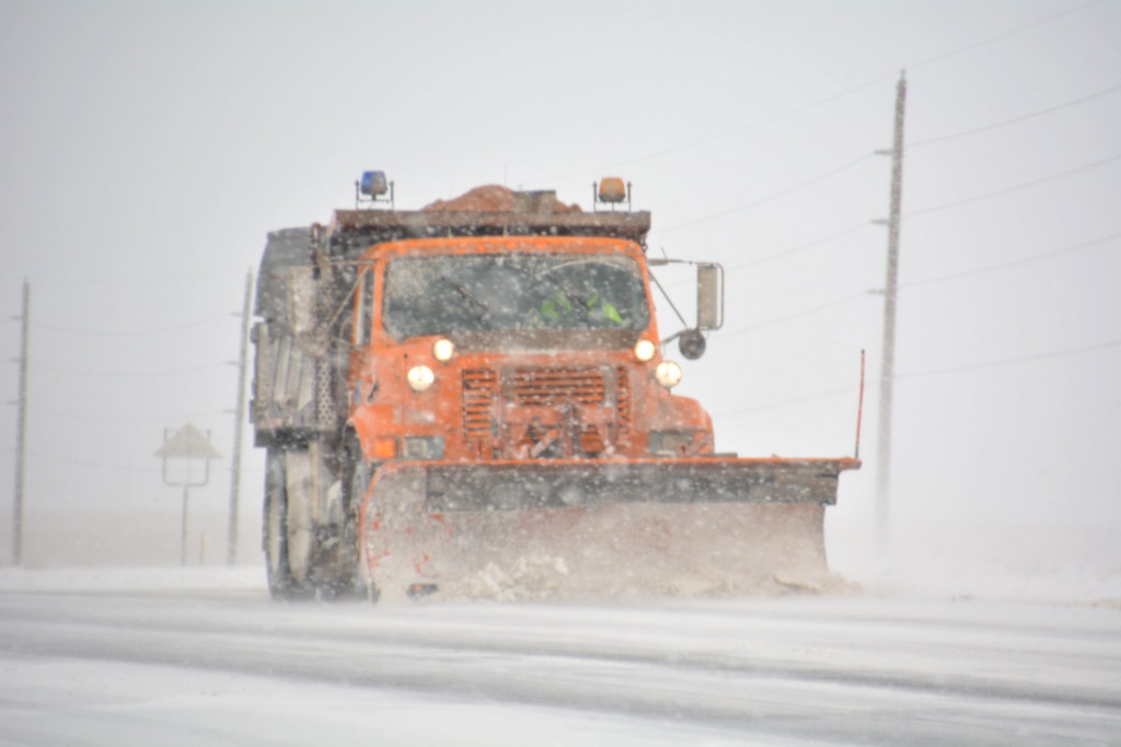 CDOT plow on Colfax Ave, Aurora