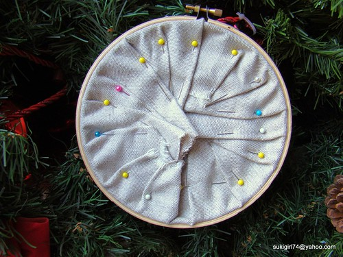 back of embroidery hoop