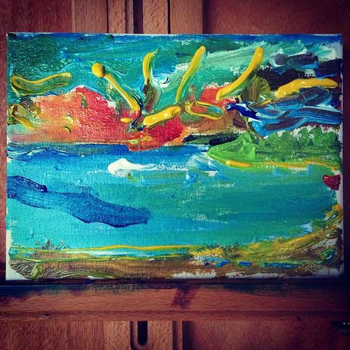 art painting jamaica littlebay