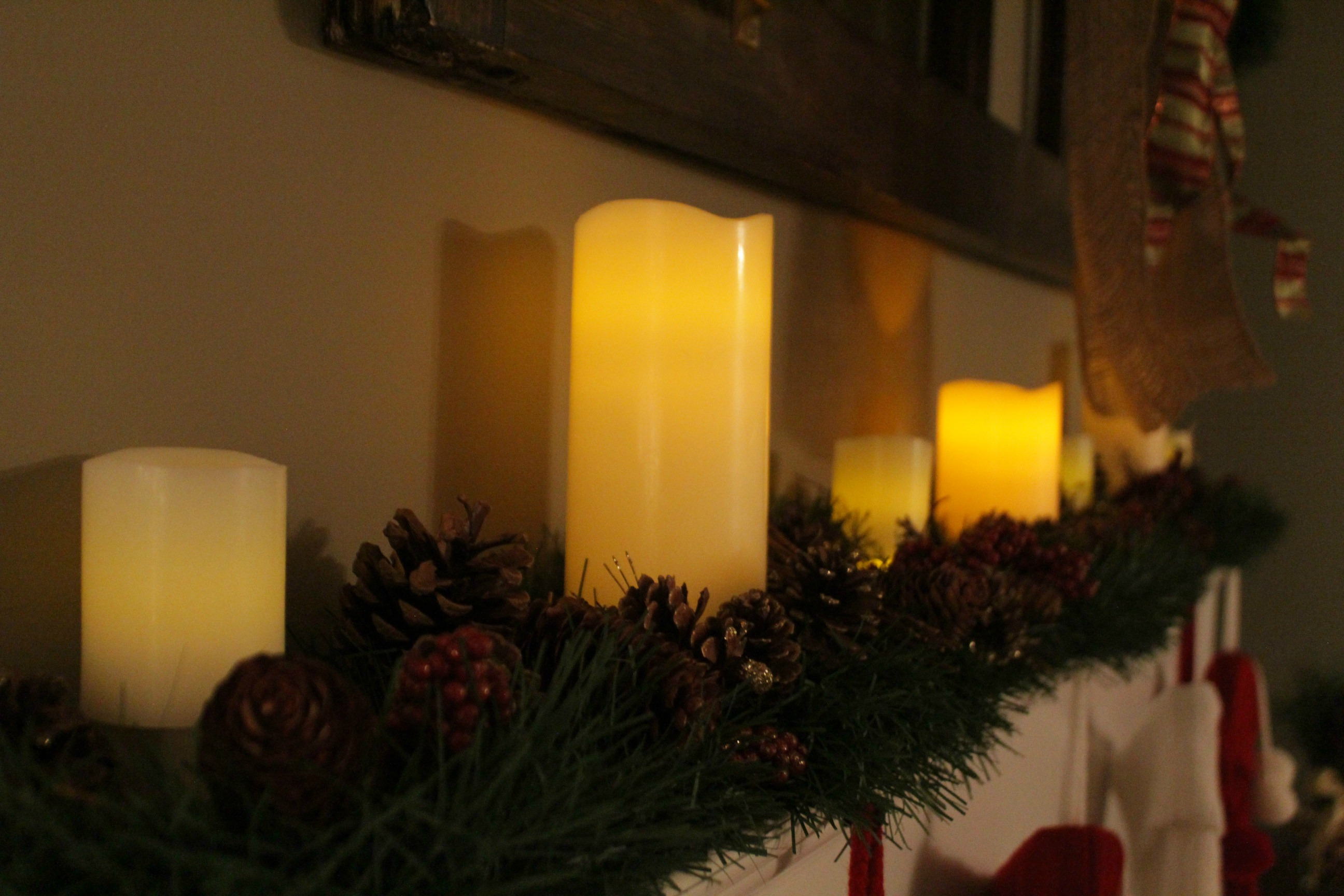 mantel candles