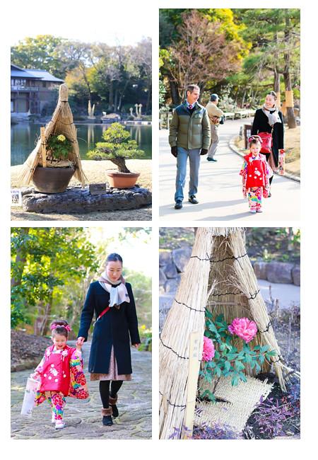 七五三写真 出張撮影 ロケーション撮影 徳川園 名古屋市東区 データ納品 ナチュラル 自然