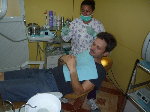 Kurt at the dentist - Vilcabamba, Ecuador