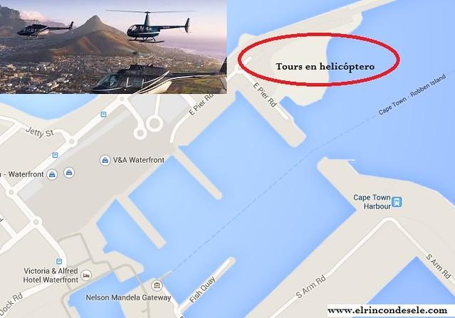 Mapa tours en helicóptero en Ciudad del Cabo (Sudáfrica)