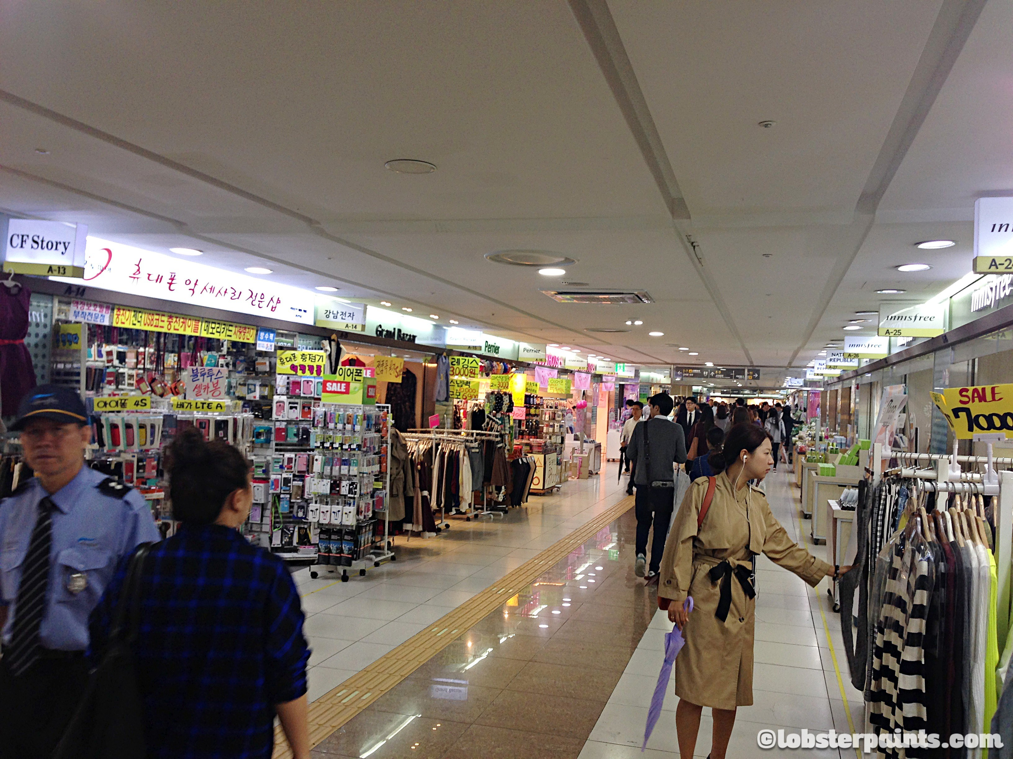 2 Oct 2014: Gangnam Station Underground Shopping Centre | Seoul, South Korea