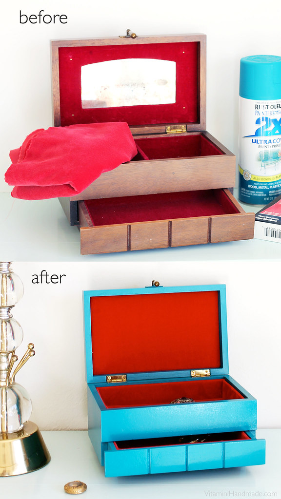 DIY Makeover An Old Jewelry Box