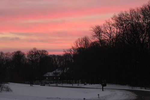morning trees winter red clouds sunrise woods purple michigan redsky saline purplesky purplemorning redmorning saline01172015