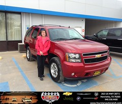 #HappyAnniversary to Sharon Forts on your 2014 #Chevrolet #Tahoe from Dewayne Aylor at Four Stars Auto Ranch!