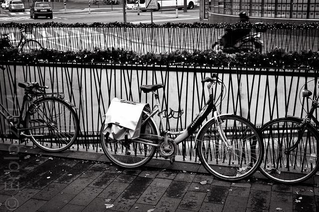 Bikes .... Fujifilm X10, Streetphotography, B&W.