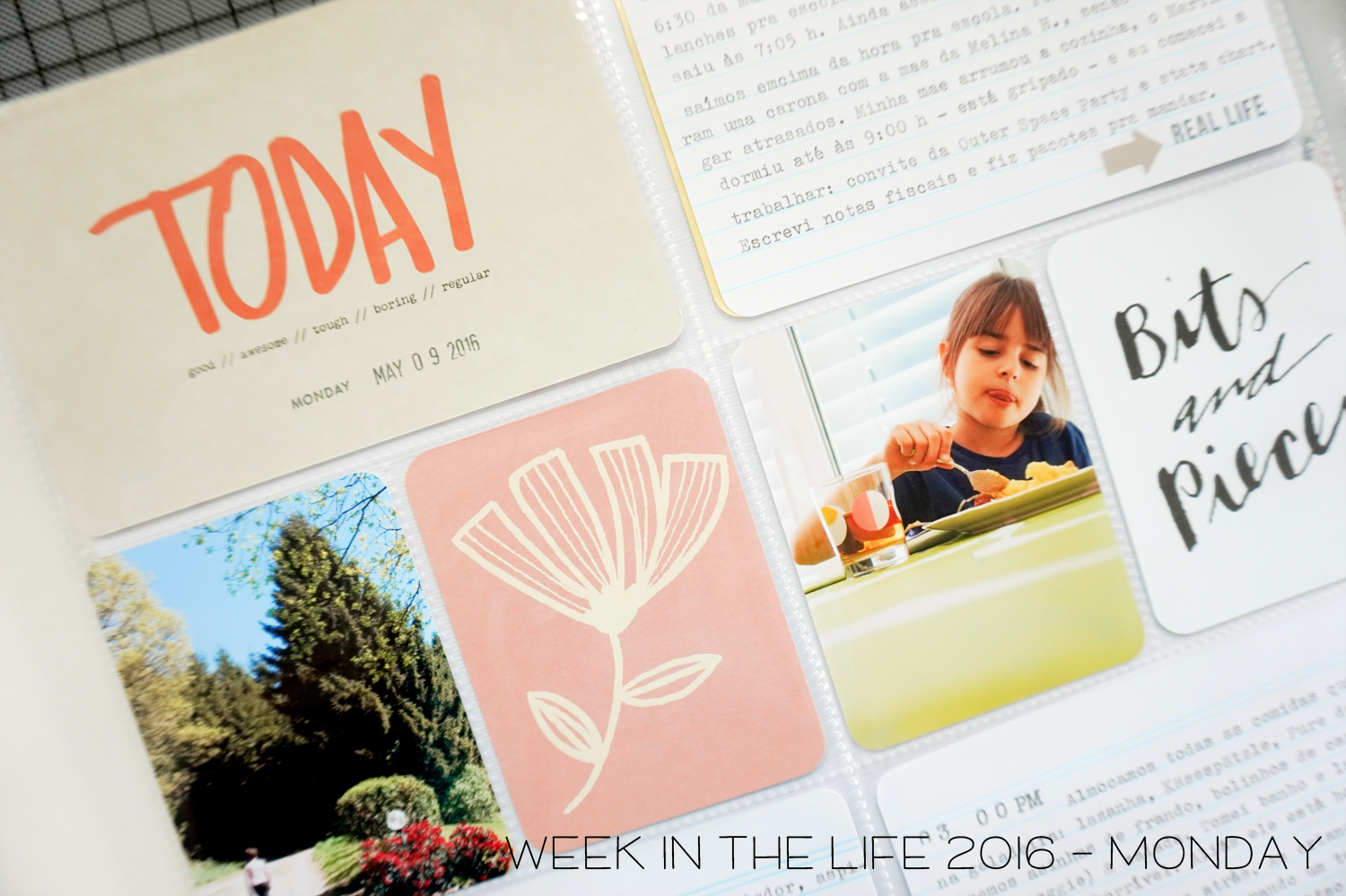 week in the life 2016 - Monday