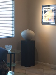Black Art Display Pedestal