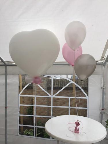 Cloudbuster Hart met Tafeldecoratie 3ballonnen
