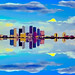 Reflections from downtown Tampa, Florida, U.S.A.