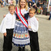 Kolache Festival Queen with brothers