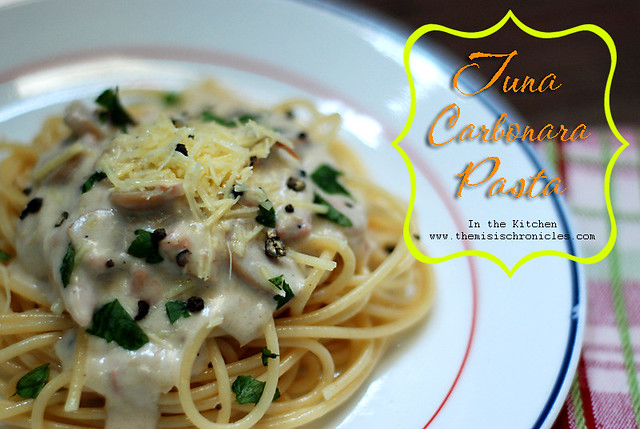 tuna carbonara pasta recipe