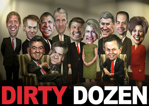 Dirty Dozen - Caricatures