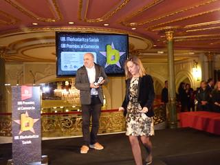 Premio a and&o como mejor idea comercial en la VII Gala del Comercio de Bilbao (Foto: Bilbao Dendak).