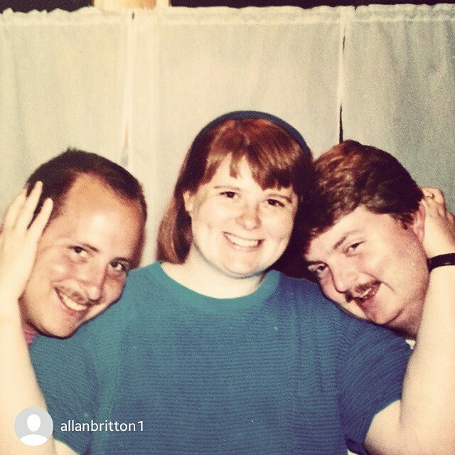 OMG! My brother, me, and my hubby from like 20 years ago!  repost via  @allanbritton1 Happy Belated Birthday!  @candiedfabrics #instarepost20