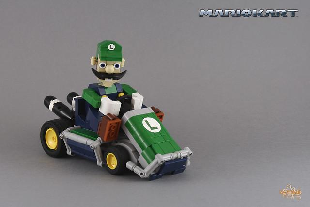 Luigi on his Classic kart - MarioKart