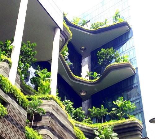 PARKROYAL on Pickering綠建築飯店(圖片攝影:蔡宗翰)