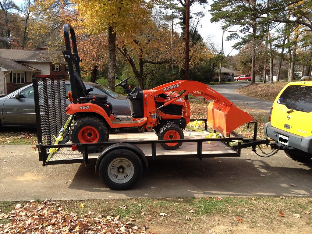 Hauling A Kubota Bx On A 10 Foot Trailer Mytractorforum