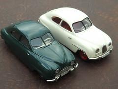 SAAB 92 c.1950 & SAAB 93A c.1956