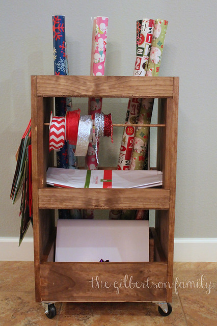 diy gift wrap cart