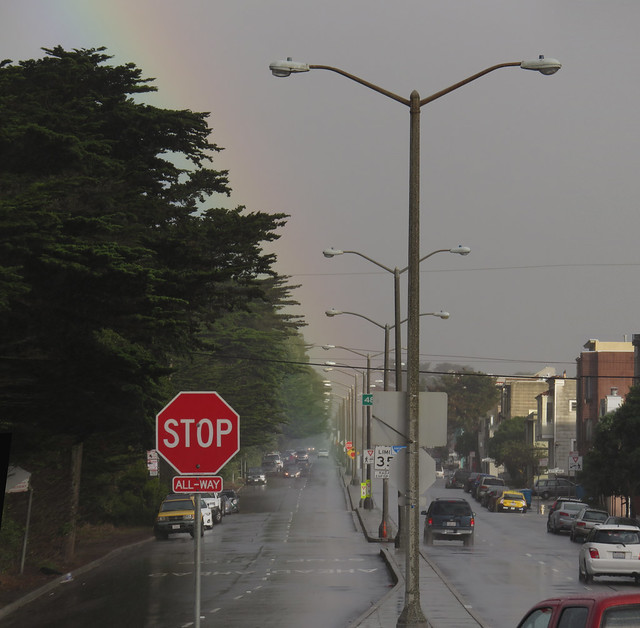rainbow POV Lincoln Way in The Sunset, San Francisco (2014)