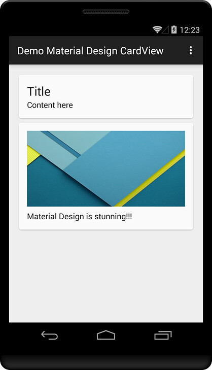 CardView and RecyclerView in Material Design