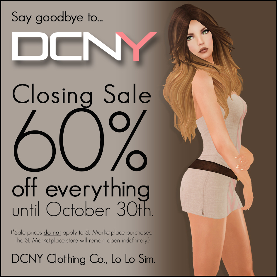 LAST DAY... DCNY Closing Sale!