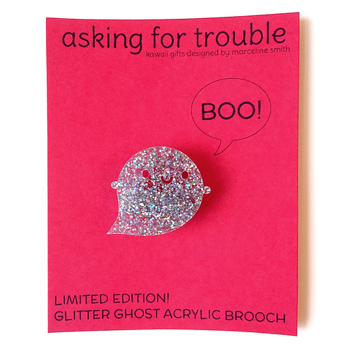 Limited Edition Glitter Ghost Brooch Packaging