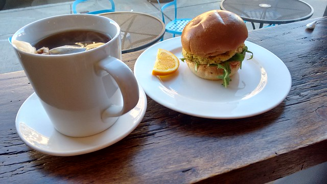 Egg and Feta Sandwich and Tea at 3 Little Figs