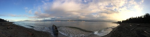 King Tides at Spanish Banks Panorama