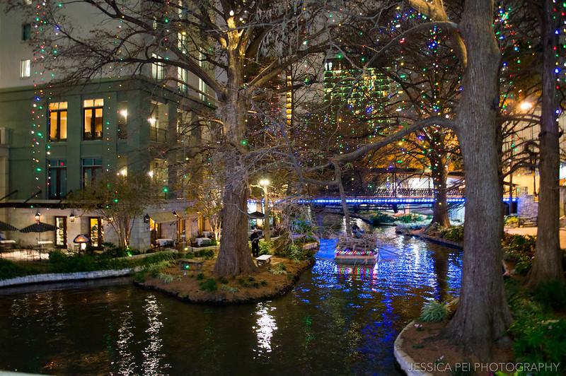 San Antonio Texas River Walk at Night